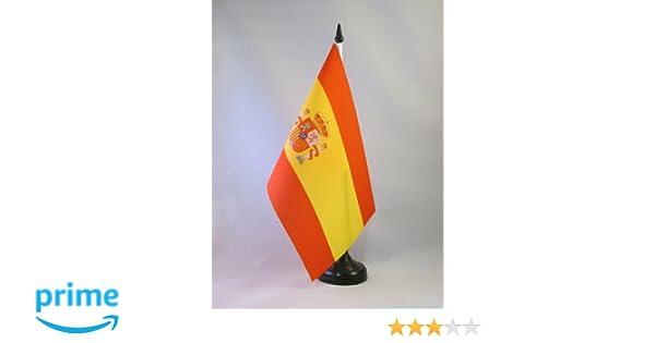 AZ FLAG Bandera de Mesa de la Primera REP/ÚBLICA DE ESPA/ÑA 1873-1874 21x14cm BANDERINA de DESPACHO ESPA/ÑOLA Antigua 14 x 21 cm