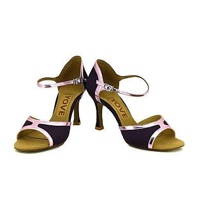 XIAMUO Anpassbare Frauen Beruf Tanz Schuhe, Sliver, EU/US75 38/UK55/CN 38