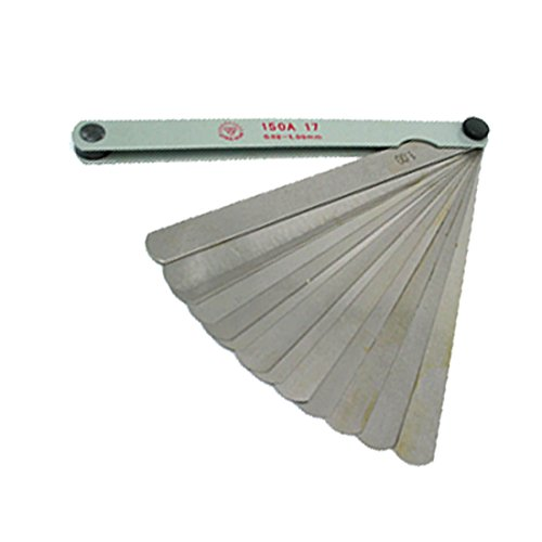 uxcell Metric Thickness Feeler Gage Gauge (0.02-1.00mm)