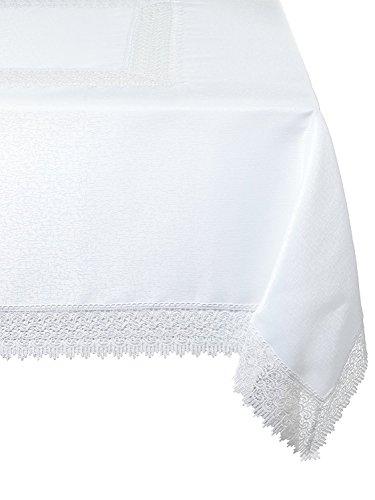 Violet Linen Treasure Lace Tablecloth, 70