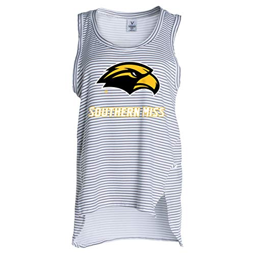 Official NCAA Southern Miss Golden Eagles - Women's Stretchy Striped Tank -