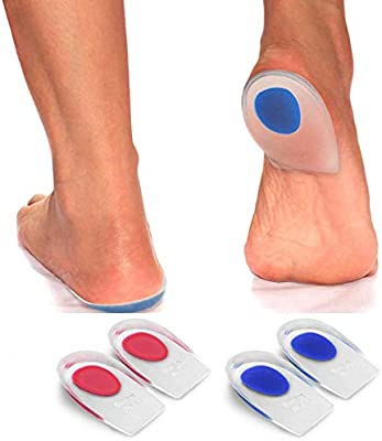 Heel Insoles Silicone Gel Orthopedic Back Cup Feet Pain Support Spur Cushion Pad