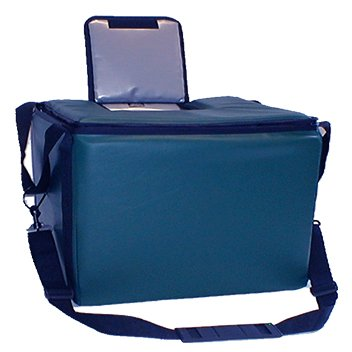 TCB Insulated Bags HWK-1D-Blue Food and Beverage Carriers: Hawking Vending Bag with Dispensing Lid, 12'' x 18'' x 12'', Blue