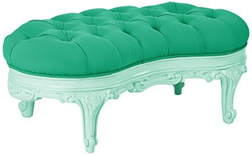 POLaRT Designs 560T_MI_WLM Ottoman with Shamrock Green Upholstery, Fresh Mint (Shamrock Mint)