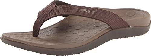 - Vionic Unisex Wave Toe Post Sandal, 12 B(M) US Women / 11 D(M) US Men, (Chocolate)