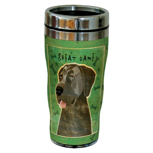 Tree-Free Greetings sg24070 Blue Great Dane-No Crop by John W. Golden 16-Ounce Sip 'N Go Stainless Steel Lined Travel (Great Dane Merchandise)