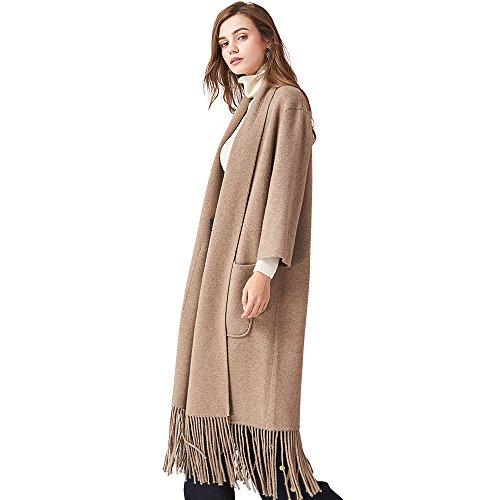 Women's 100% Cashmere Cardigan Sweater open front knit poncho Capes Shawl Cardigans (Medium) by BINWEN 15