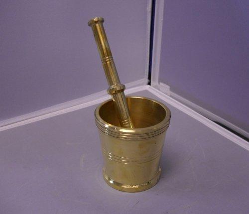 Brass Mortar & Pestle, Khaldasta Spice Grinder - Mortar Brass