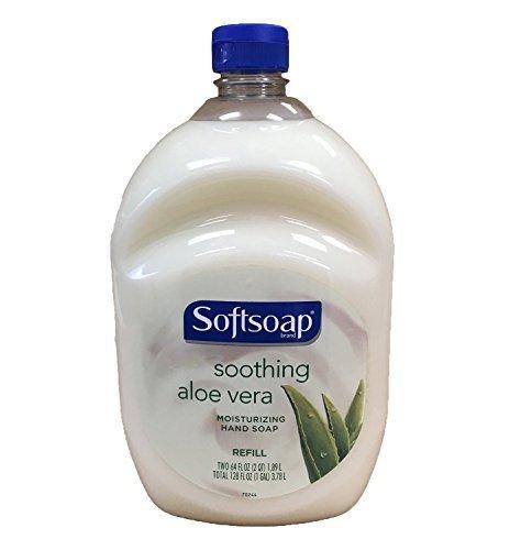 (Softsoap Hand Soap Soothing Aloe Vera Moisturizing Hand Soap Refill 64 Fluid Ounce Bottle)