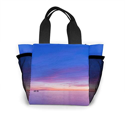 Architd Commission Brighton Pier Sunset Wallpaper Personal Handbag, Fashionable Lunch Bag and Cosmetic Bag