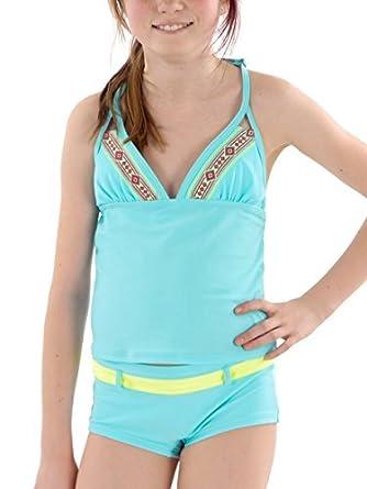 3386a5e8242ba Brunotti Bikini Tankini Beachwear Bademode Panty Salla Blau Neckholder Gr.  152