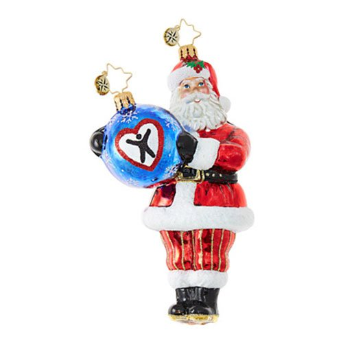 Christopher Radko Dave Thomas Adopting Darling Charity Awareness Christmas Ornament by Christopher Radko