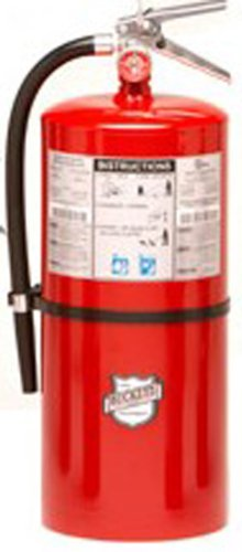 Buckeye 12220 Standard Dry Chemical Hand Held Fire Extinguisher with Aluminum Valve and Wall Hook, 20 lbs Agent Capacity, 7-1/2'' Diameter x 8-3/4'' Width x 21-1/4'' Height