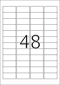 48 Etichette per Foglio Etichette Adesive A4 per Stampante 45,7 x 21,2 mm Blu HERMA Etichette per Marcatura