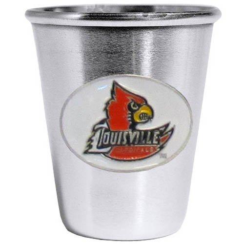 NCAA Louisville Cardinals Steel Shot Glass