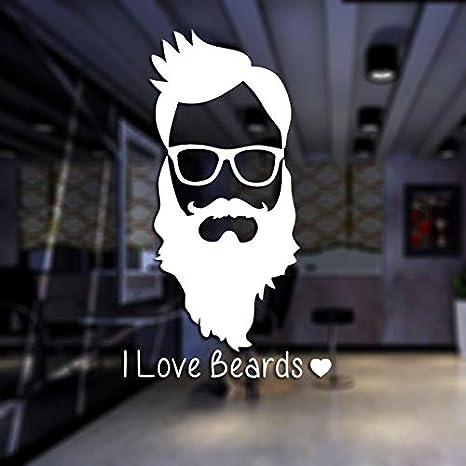 Hombre Barba Barbería Etiqueta engomada Nombre Chop Bread Decal ...