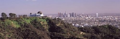 Posterazzi PPI125060L Hill with Cityscape in The Background Griffith Park Observatory Los Angeles California USA 2010 Poster Print, 36 x ()