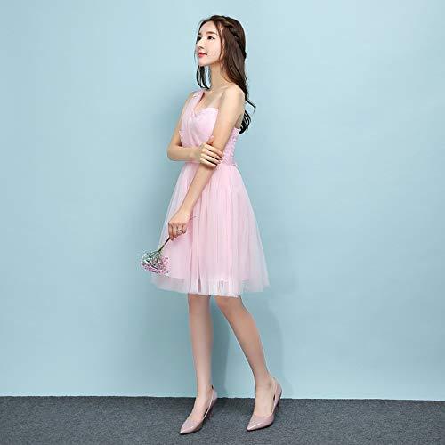 abb768debee6 Vestito 5 Rosa stile Damigella Dazisen Abito Da D onore Festa Moda  DonnaElegante Tulle Principessa Corto l1JcFK