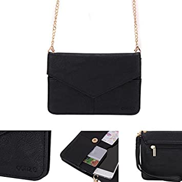 Conze Mujer embrague cartera todo bolsa con correas de hombro para Alcatel Dawn negro negro: Amazon.es: Informática