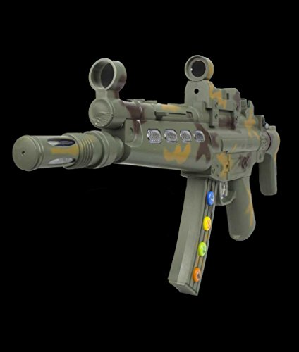 Fun Central AU029 LED 20 Inch Kids Machine Blaster Toy Gun with Laser and Sounds, LED Machine Blaster Gun, LED Light Up Machine Blaster Gun for Party Favors, Rewards by Fun Central