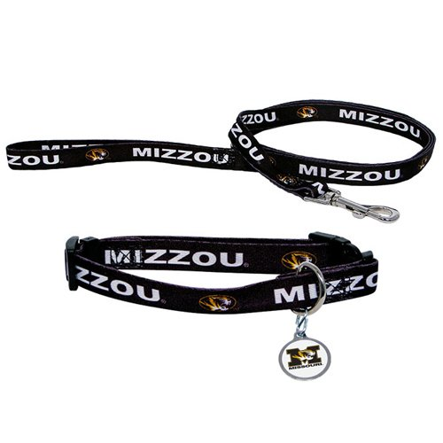 Hunter Manufacturing HUN-4100-42-4900 Missouri Tigers NCAA Dog Collar & Leash Set