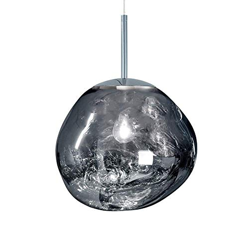 Red Blown Glass Pendant Light in US - 8