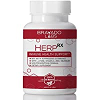 Premium Herpes Treatment Supplement - HerpRX - with L-Lysine, Vitamin C and Zinc - Cold Sore Treatment - Anti-Herpes L…