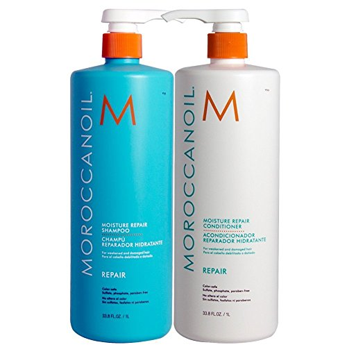 Moroccanoil Moisture Repair Shampoo & Conditioner Combo Set (33.8  fl oz ) by Moroccanoil