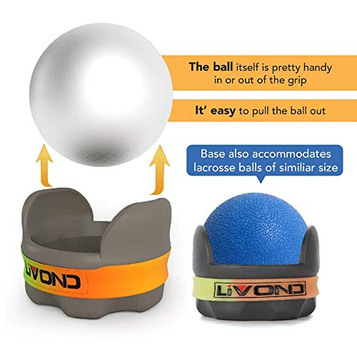 LiVOND Hot/Cold Massage Roller Massage Ball for Trigger Point, Deep Tissue, Stress-Relief – Handheld Rolling Tool for Neck, Shoulder, Back, Foot, Leg Muscles (Stainless Steel Roller Ball, 2.5\