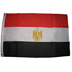 ALBATROS 3 ft x 5 ft Egypt Eygpt Super-Poly Premium Quality Fade Resistant Flag Banner for Home and Parades, Official Party, All Weather Indoors Outdoors