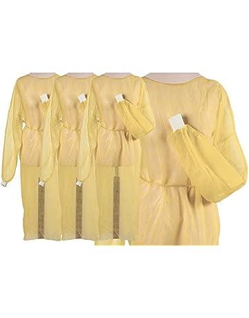 Fieltro Bata Amarillo con extra Puños 10 unidades aprox. 125 x 145 cm – una