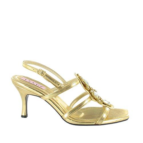 Pu Ladies Trim Naiset Leikata Gold With Kulta Sandaali Diamante Pu Sandal Diamante zqrSzn7Hx