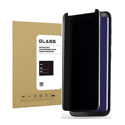 For Galaxy S9 Plus Privacy Anti Spy Screen Protector, Boogak 9H Hardness, Anti-Scratch, Anti-Fingerprint, Easy Install Tempered Glass Screen for Samsung Galaxy S8 Plus Black …