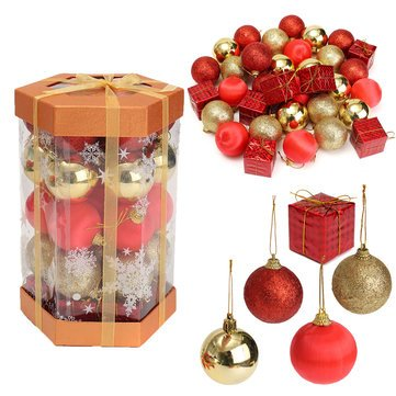 Decoration - Glitter Christmas Balls Ball - 1PCs (Time Quotes Christmas Reflect)