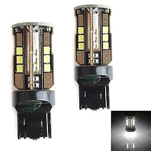HJ 744010W 900LM 5500–6000K 30x 2835SMD LED Bombilla de luz blanca para coche freno luz (12–24V, 2unidades)