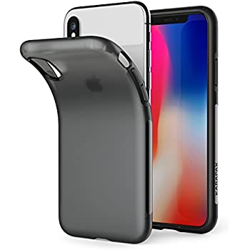 iPhone X Case, iPhone 10 Case, Anker KARAPAX Touch Case Matte Finish Flexible Soft Gel TPU Cover Shell Skin [Support Wireless Charging] [Thin Slim Fit] [Anti Scratch] for Apple 5.8 In iPhone X - Black
