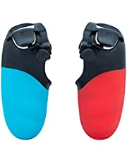 Mcbazel FPS Games Quickshoot Trigger Extenders Stop Button Grip Cover for PS4 Controller - Red & Blue