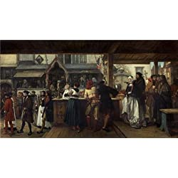 Oil Painting 'Henri Leys - Albrecht Durer Visiting Antwerp In 1520,1855' 18 x 33 inch / 46 x 83 cm , on High Definition HD canvas prints is for Gifts And Garage, Gym And Powder Room Decoration, simply