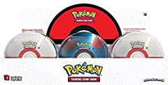 The ultimate Pokémon trading card Game product! What's cooler than getting your Pokémon cards from a Poké Ball when you start a new battle? Players can become true Pokémon TRAINERS With these Poké Ball tins.
