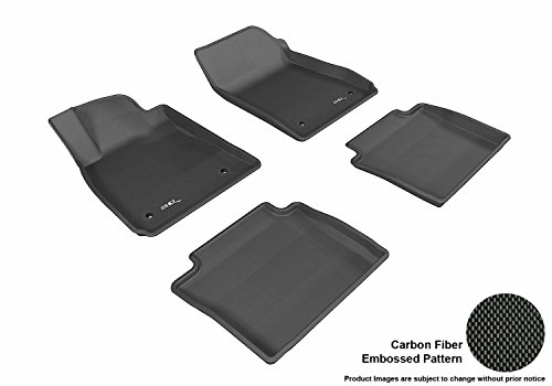 3D MAXpider Complete Set Custom Fit All-Weather Floor Mat for Select Chevrolet Impala Models - Kagu Rubber (Black)