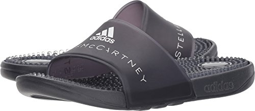adidas Stella McCartney Women's Adissage W Night Steel/SMC/Night Steel/SMC/Footwear White 8 M US