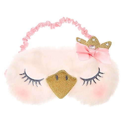 (Claire's Club Girl's Claire's Club Plush Swan Princess Sleeping Mask )