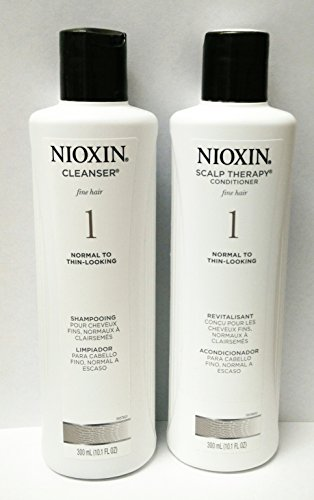 Nioxin System 1 Cleanser & Scalp Therapy 10.1oz (300ml) Duo