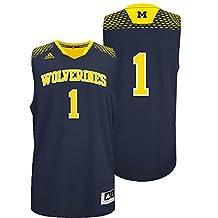 Michigan Wolverines #1 Adidas March Madness Jersey M