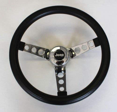 1976-1995 Jeep CJ CJ5 CJ7 YJ Classic GRANT Black Steering Wheel 13 1/2'' Horn Kit