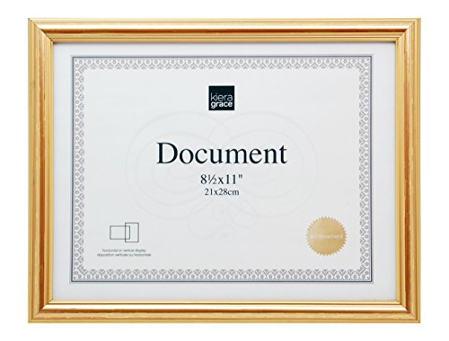 kieragrace Kiera Grace Presley Document Frame 8.5 by 11-Inch Gold
