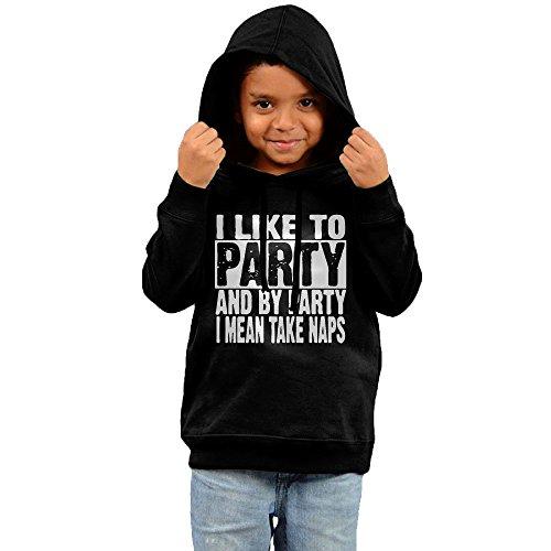 Kid's I Like Party Hooded Sweatshirt