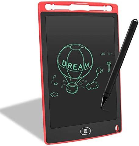 LKJASDHL 新しい8.5インチLCDタブレット子供学習描画早期学習玩具スケッチパッドワードパッドホワイトボードペン (色 : レッド)