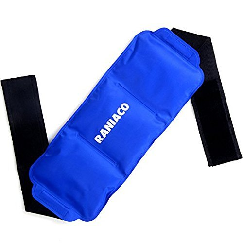 BIG CLEARANCE SALE! Ice Pack-Raniaco Reusable & Flexible Gel Cold Pack with Adjustable Velcro Strap, Hot Cold Therapy for Head ,Neck,Shoulder,Back,Waist ,Knee, Ankle Sports Muscle Pain Relief (Blue ) by RANIACOE