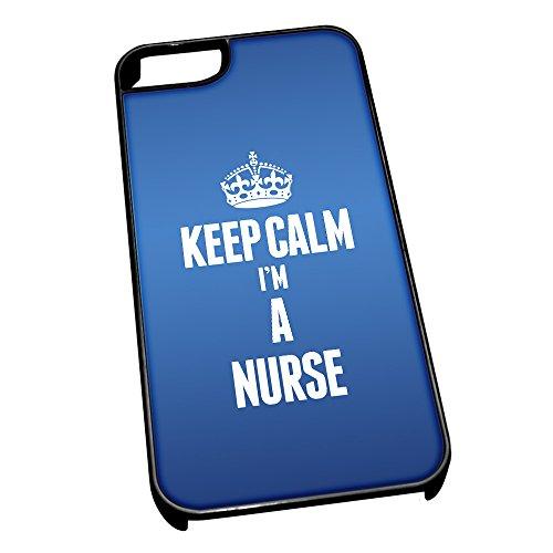 Nero cover per iPhone 5/5S blu 2634Keep Calm I m A nurse
